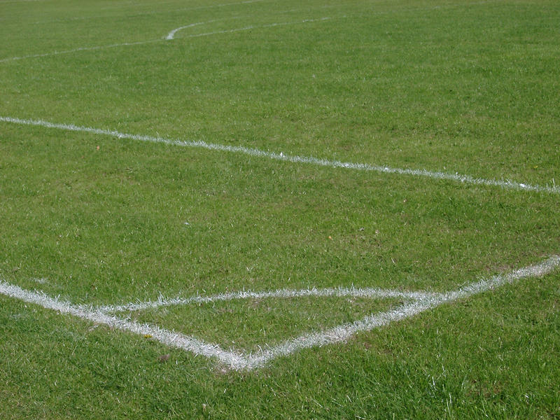 the corner mark of a football (soccer) pitch