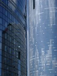 234-reflections in a modern glass building