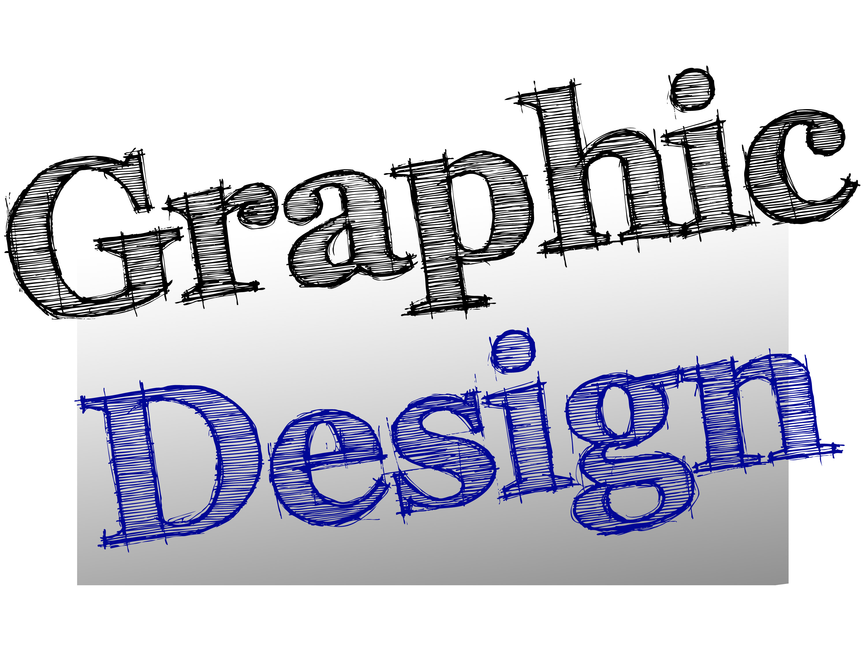 Graphic Lettering Spelling Out Design In A Hand Drawn Style On Grey Graduated Background