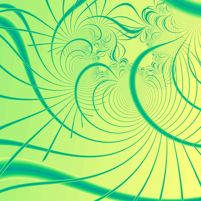 a curved green background generated by fractal rendering software