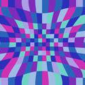 1484-graphic distortion purple cyan