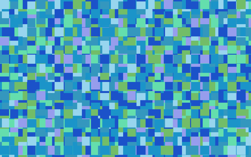 "random squared illustrated pattern with blue green ""underwater"" palette"