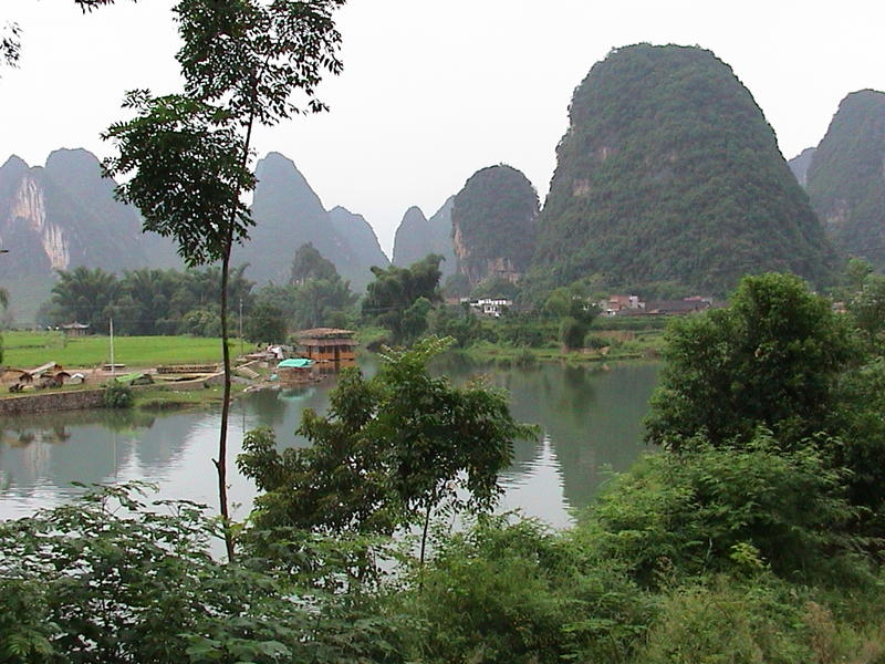 <p>Landscape near Guilin in China</p>