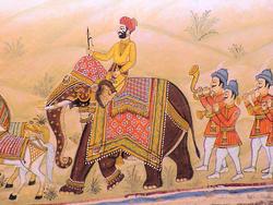 1905-India_Rajasthan_Fort_Chanwa_mural_01.jpg