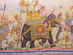 1907-India_Rajasthan_Fort_Chanwa_mural_04.jpg