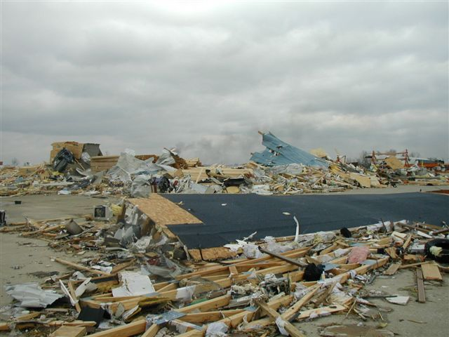 <p>Tornado destruction</p>