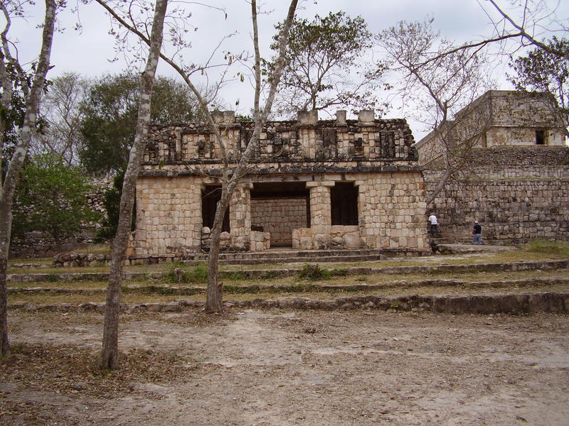 ruined temples at uxmal near the Palacio del Gobernador, (governors palace or temple)