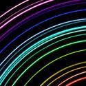 1829-light trail rainbow