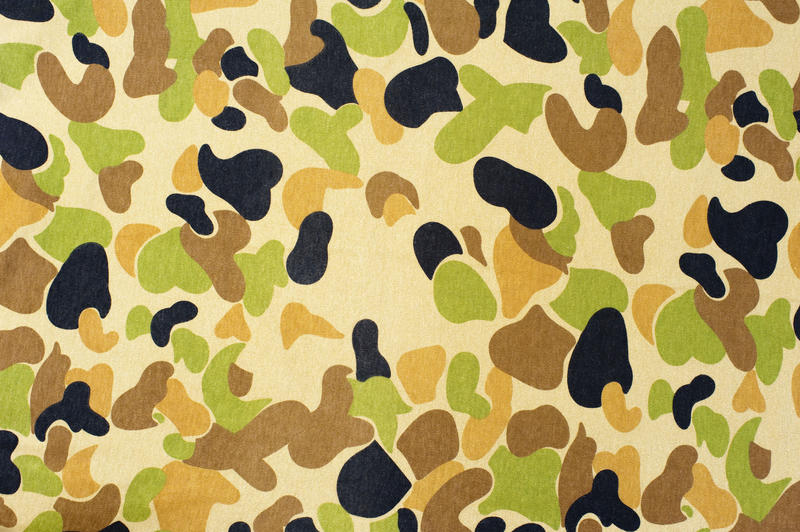 army camouflage pattern green and black fabric