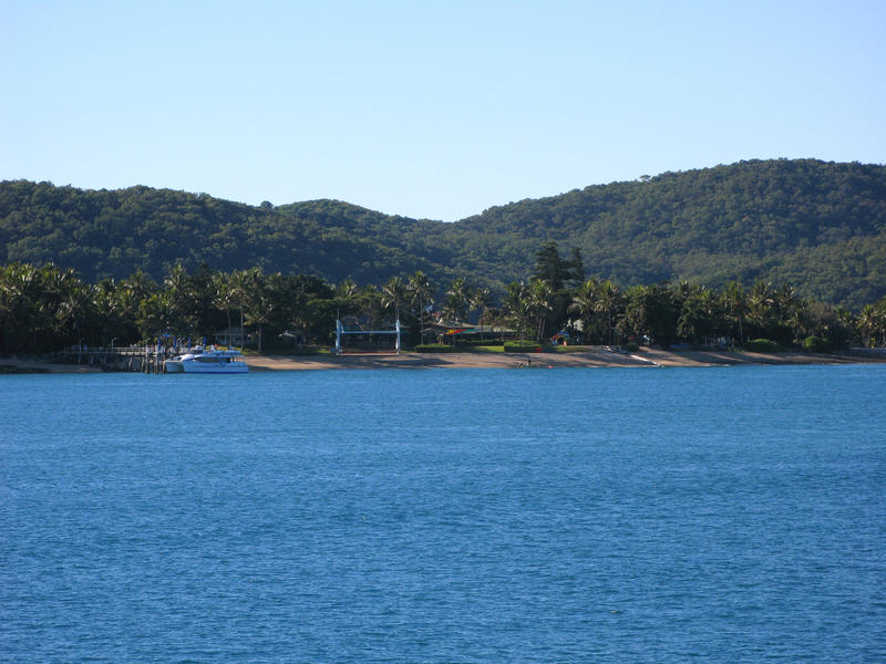 views of daydream island (west molle) from the water
