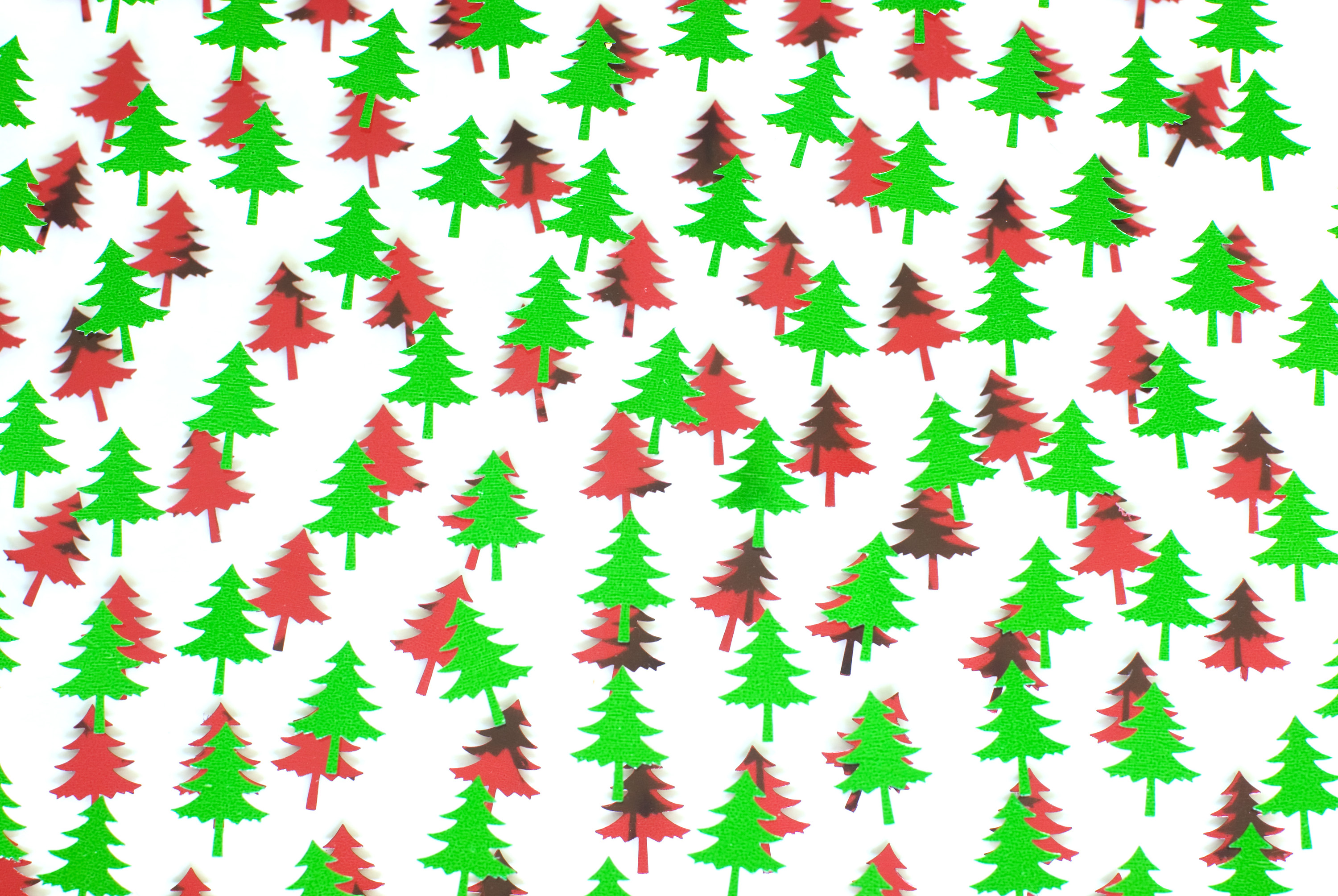 Free Stock Photo 3632-red and green tree shapes | freeimageslive