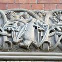 4569   stone bat carving