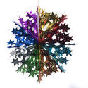 4701   multicolour hanging star