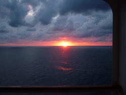 4895   sunset from the ship
