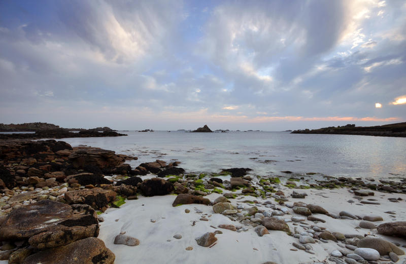 Sunset at Hell Bay, on Bryher on the Isles of Scilly