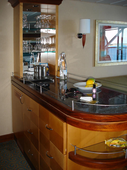 accommodation with a bar on a cruise ship