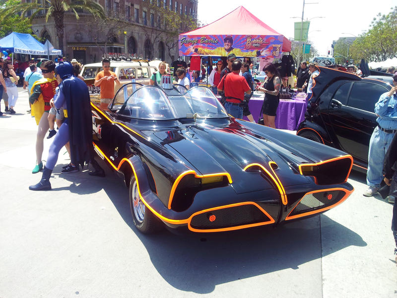 <p>1960's batmobile. Editorial use - not property or model relased</p>