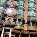 6638   Bay windows on a building in Boston