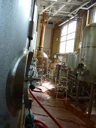 6693   Interior of a brewery with equipment