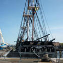 6639   USS Constitution tied to the wharf