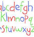 6978   Handwritten crayon alphabet