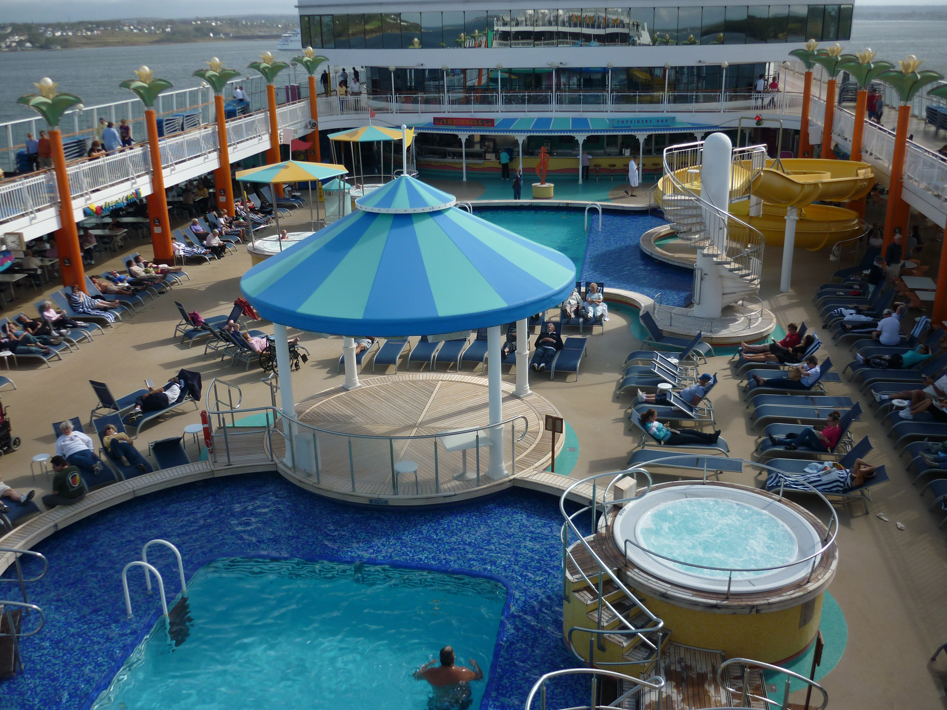 free stock photo 6699 swimming pool on a cruise liner freeimageslive