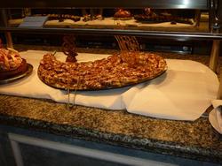 6681   Dessert buffet on display