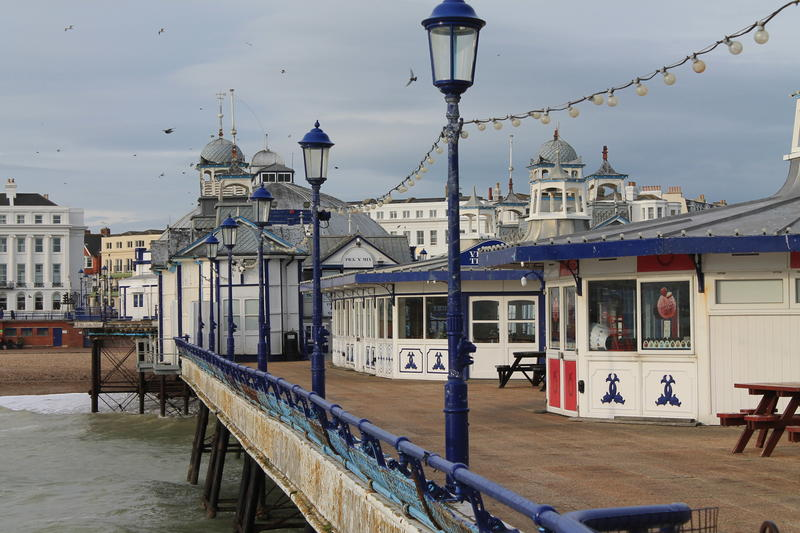 <p>Eastbourne Pier Southern England,Taken on the pier in winter 2011</p>