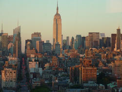 6655   Evening view of the Empire State Building