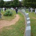 6714   Row of Titanic gravestones