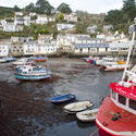 7290   Polperro harbour and cottages