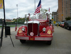 6676   Historic red fire engine