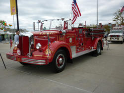 6678   Historic red fire tender