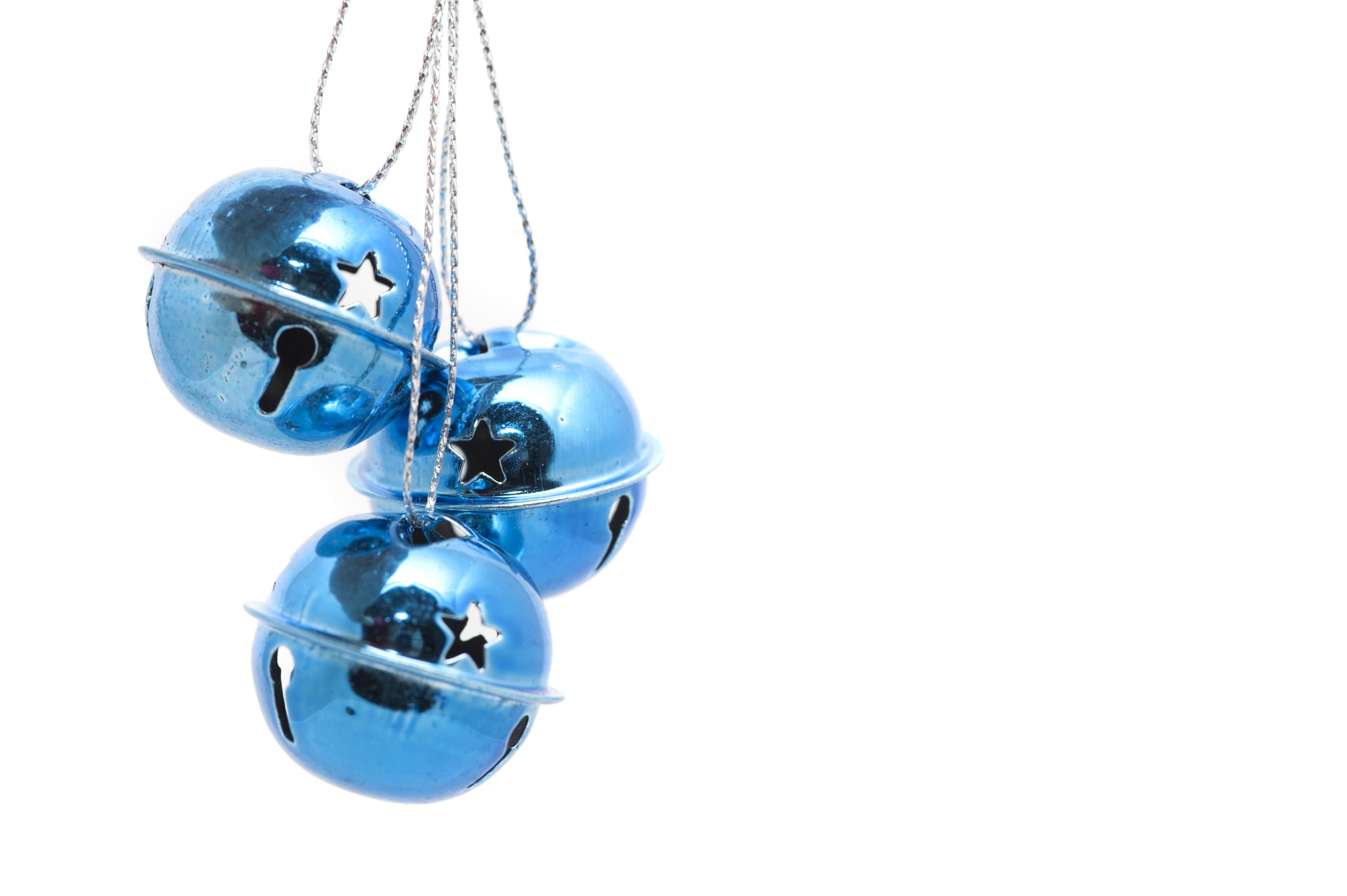 Free stock photo pretty blue jingle bells