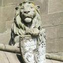 7591   Cardiff castle animal wall