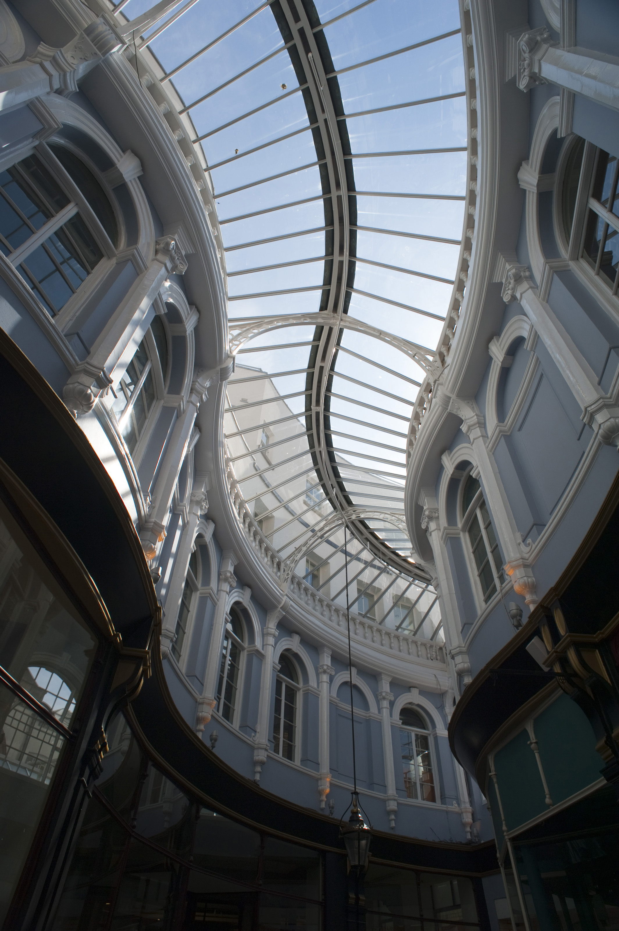 free stock photo 7592 curving glass roof of the morgan arcade