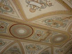 6689   Beautiful inlaid mosaic ceiling