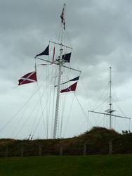 6730   Nautical flags on a flagpole