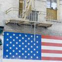 5597   patriotic flag mural