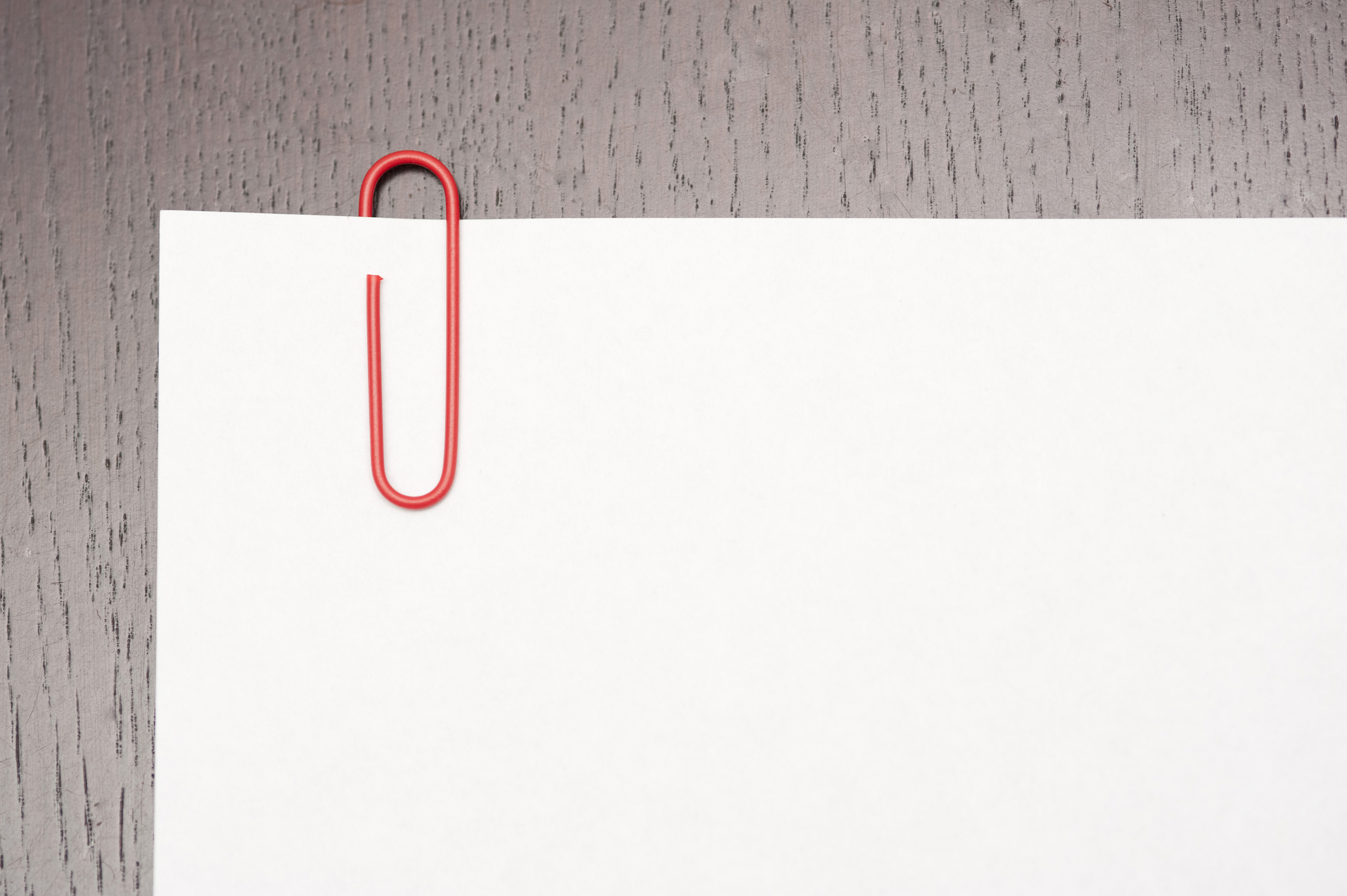 Free Stock Photo 5315 Paper Clip On Blank Paper