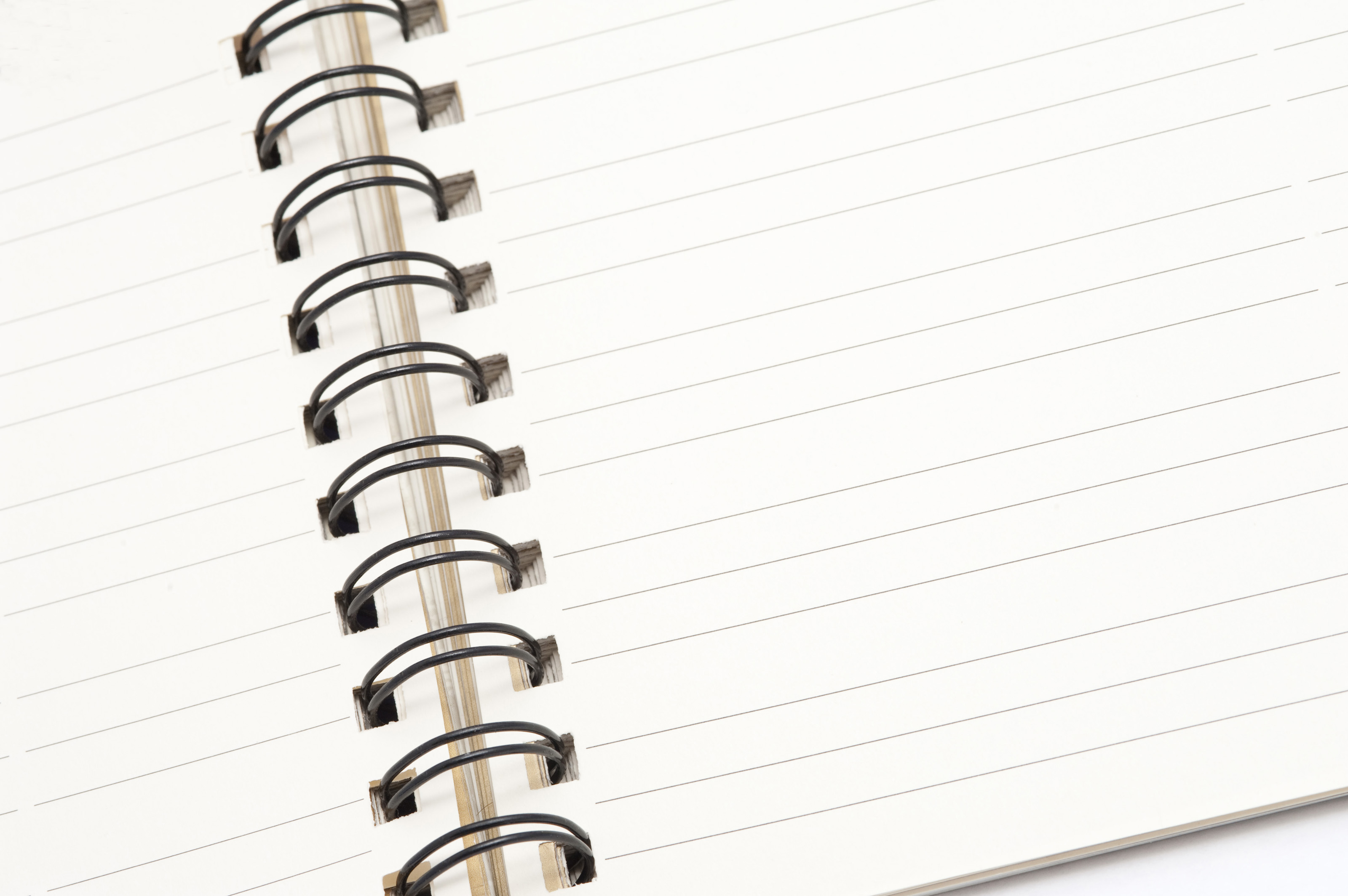 Photo Page: Free Stock Photo 5316 Open Ringbound Notepad