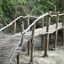 6323   Rustic wooden pedestrian bridge