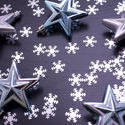 6829   Christmas pattern of snowflakes and stars