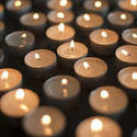 6832   Array of twinkling burning candles