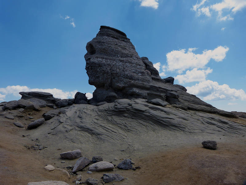 <p>The Sphinx from Bucegi, geomorphology</p>The Sphinx from Bucegi