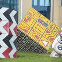 7575   Roadsign sculptures Splott, Cardiff