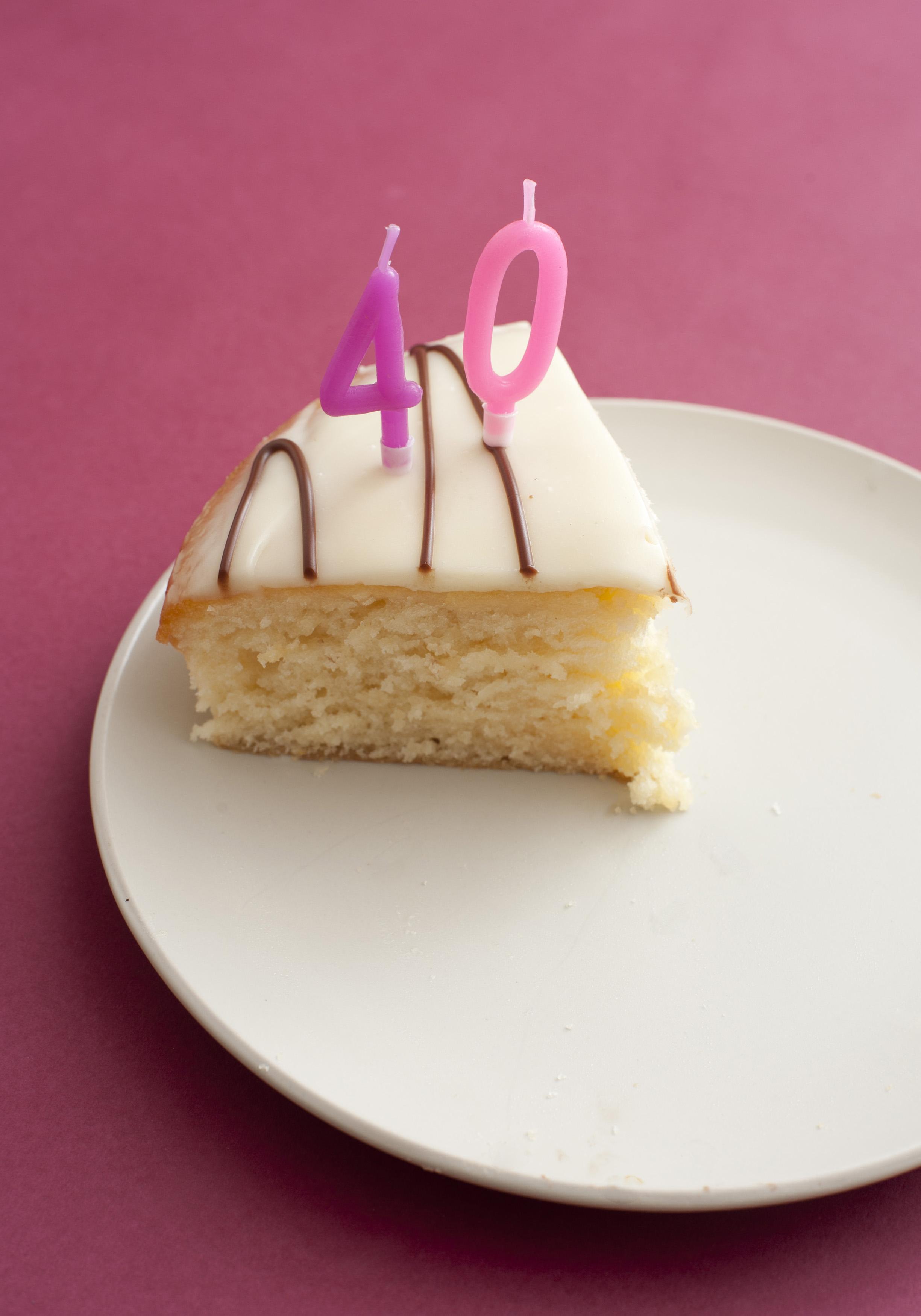 Free Stock Photo 11425 Slice Of 40th Birthday Cake