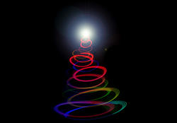 8638   Abstract twirled Christmas tree light