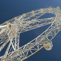 10976   Large ferris wheel with gondolas