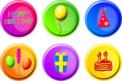9395   birthday buttons